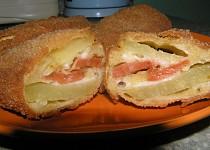 Plněné bramborové řízky