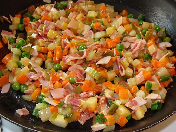 Vepřová roláda v hořčicovo-smetanové omáčce, Hotová zelenina