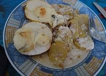 Zapečené plátky s jablkem a sýrem