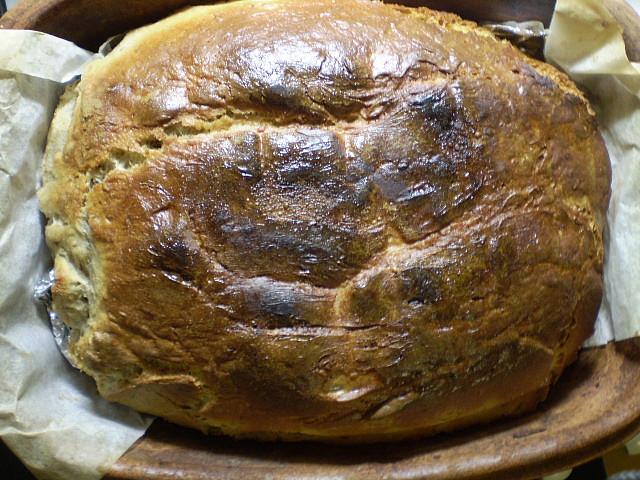 Ošatkový chléb, upečený ošatkový chléb
