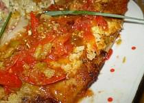 Panganus na pórku s rajčaty