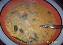 Polévka masovo - fazolková