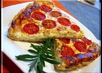 Slaný koláč s rajčaty