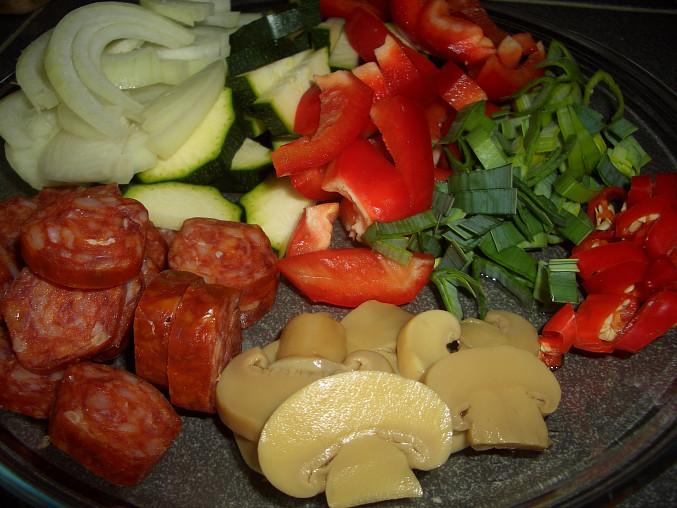 klobáska a zeleninka