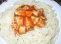 Špagety s masem