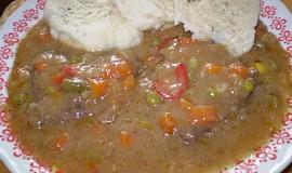 Steikové, dušené hovězí plátky se zeleninkou