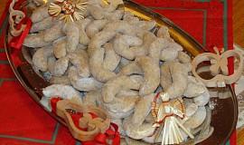 Vanilkové špaldové rohlíčky