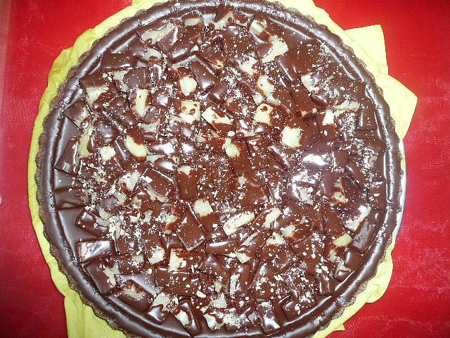 Čokoládovo-banánový koláč