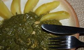 Kuracie prsíčka v špenátovej omáčke