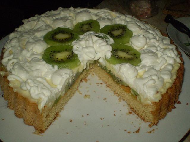 Ovocný dort s tvarohovopudinkovým krémem, Ovocný dort s tvarohovo pudinkovým krémem