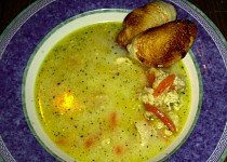 Rybí polévka z nilského okouna
