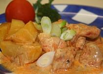 Kuřecí maso na smetaně
