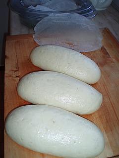 těsto pekárna, kvasnic jen 10,5g, pařeno v parním hrnci