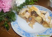 Mřížkový koláč bez vajec s jablky a ananasem