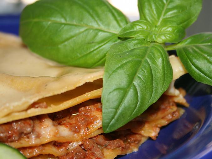 Lasagne s masem