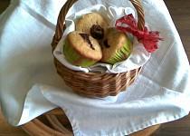 Muffinky s ovocem a čokoládou