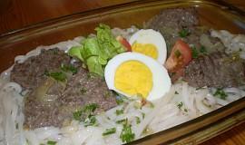 Rýžové těstoviny s masem