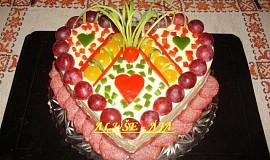 Slaný dort - srdíčko