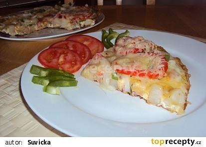 Vaječná omeleta s vařenými bramborami