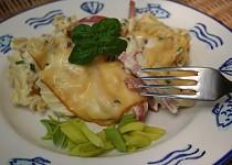 Zapékané penne těstoviny se salámem a sýrem