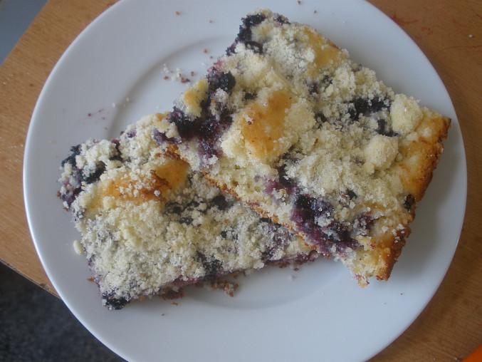 Žmolenkový koláč, Žmolenkový koláč s borůvkami