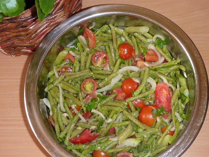 Fazolkovo - rajčatový salát