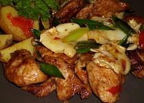 Hermelínové kuřecí nudličky