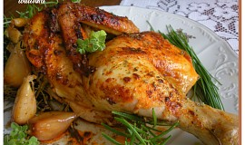 Kuře pečené na bylinkách