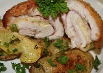Kuřecí maso plněné Hermelínem a šunkou