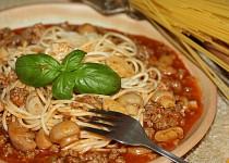 Špagety s domácí omáčkou