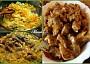 Restování zeleniny + před vložením do trouby + hotové maso