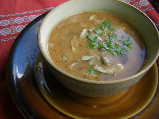 dršťková polévka z růžovek