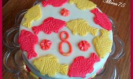 Potahovaný dort k narozeninám