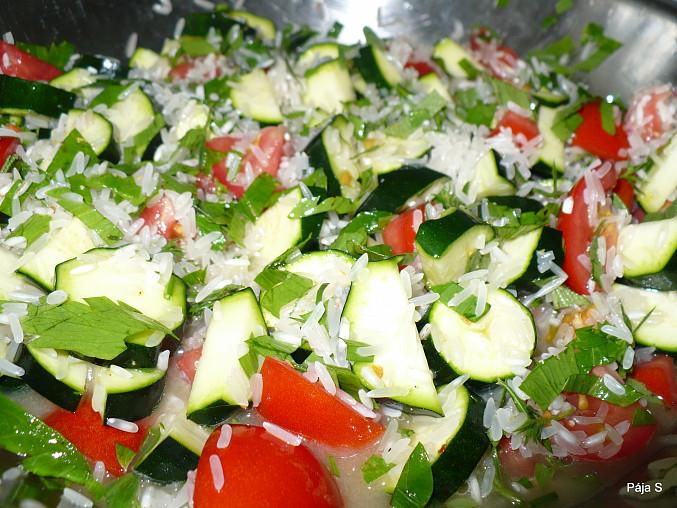 Pečené kuře na zeleninovo-rýžovém lůžku, Pečené kuře na zeleninovo-rýžovém lůžku