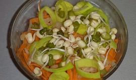 Salát z kysaného zelí s naklíčenou čočkou (mungem)