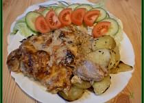 Kuřecí maso zapékané s jablky a hermelínem