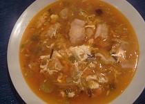 Zeleninová polévka s pangasem