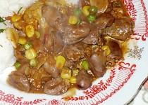 Kuřecí srdíčka se zeleninou