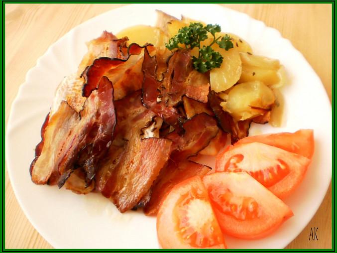 štikozubec na anglické slanině