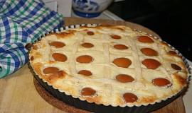 Křehký dezert s tvarohem a meruňkami