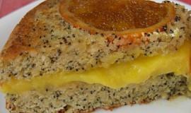 Mandlovo makový koláč s pomeranči