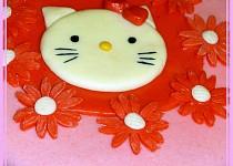 Růžový dort Hallo Kitty