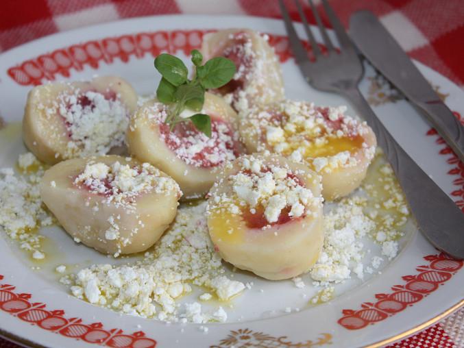 Rychlé tvarohové knedlíky ovocné, Rychlé tvarohové knedlíky ovocné