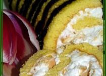 Kokosovo-ananasová roláda