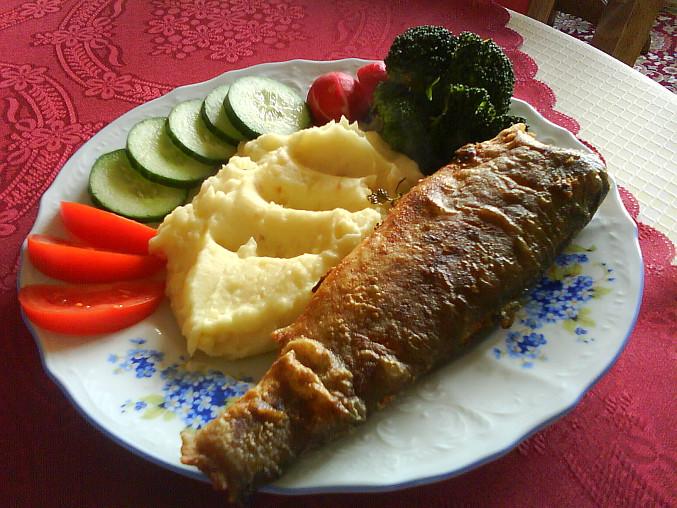 Pstruh s bramborovou kaší :-)