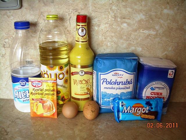 Buchta z margotky a vaječného koňaku, ingredience