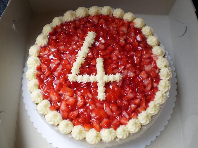 Jahodový dortík, napíšem číslo 4