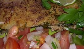 Lososové filety,  zapečené v  pikantní  sýrové  krustě