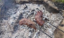 Maso na ohni (hanger/flap steak)