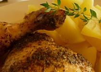 Pečené kuře na majoránce